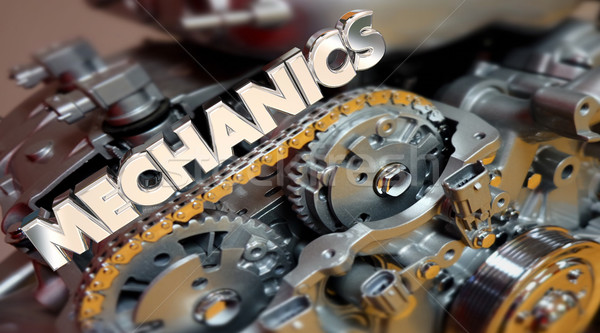 Mechanics Automotive Technician Job Engine 3d Illustration Stock photo © iqoncept