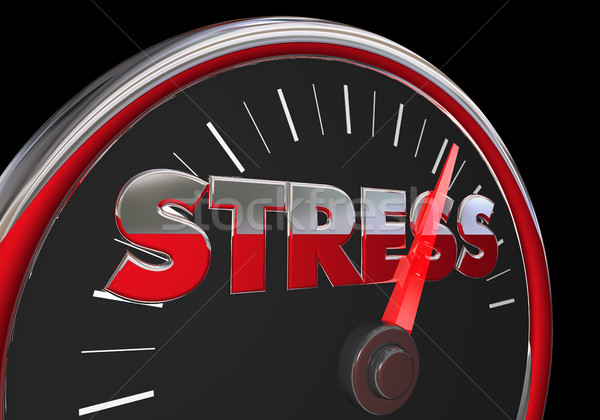 Stress Level Rising Speedometer Gauge Word 3d Illustration Stock photo © iqoncept