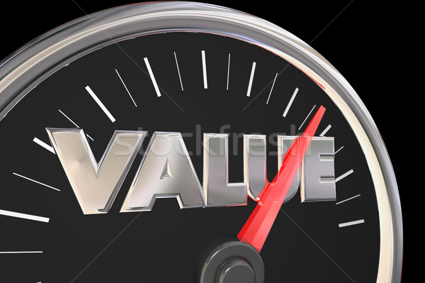 Value Quality Price Best Deal Word Speedometer 3d Illustration Stock photo © iqoncept