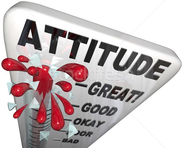 Attitude Measuring on Thermometer Positivity for Success Stock photo © iqoncept