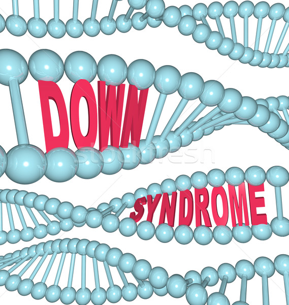 Down Syndrome Words in DNA Chains and Strands Stock photo © iqoncept