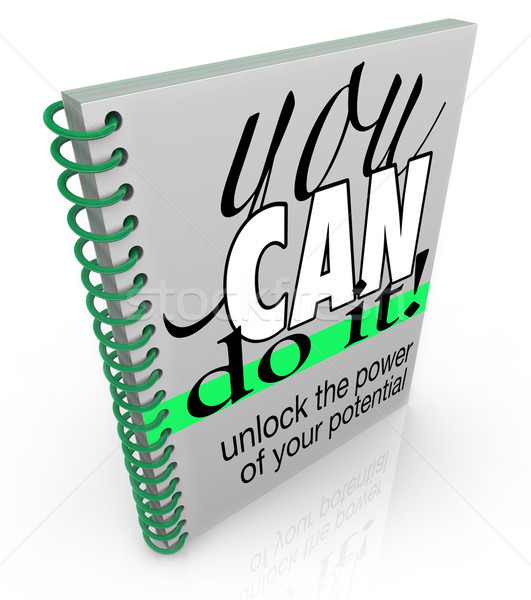 Self-Help You Can Do It Book Positive Attitude Confidence Stock photo © iqoncept