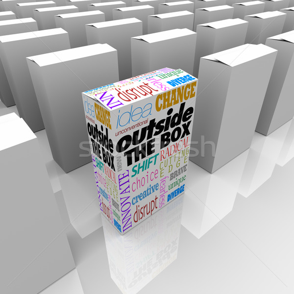 Outside the Box Unique DIfferent Solution to Problem Package Stock photo © iqoncept
