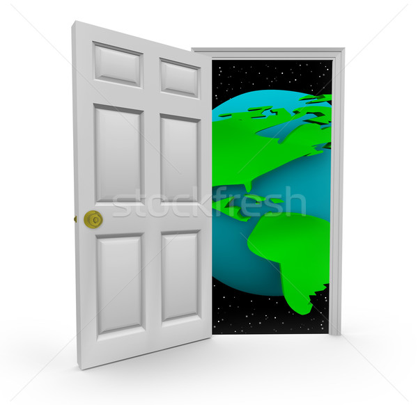 Door to a World of Opportunities Stock photo © iqoncept