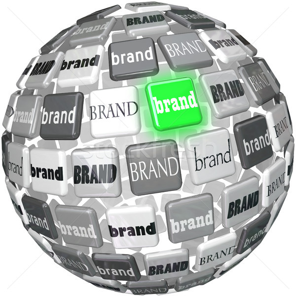 Many Brands One Unqiue Best Brand Sphere Top Choice Stock photo © iqoncept