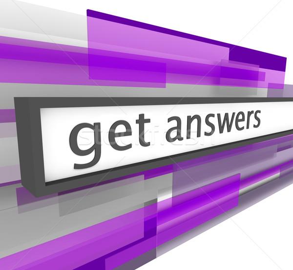 Stok fotoğraf: Cevaplar · web · sitesi · bar · soyut · mor · ziyaretçi