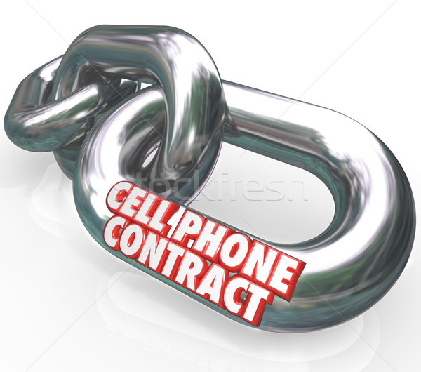 Cell Phone Contract Agreement Commitment Legally Bound Stock photo © iqoncept
