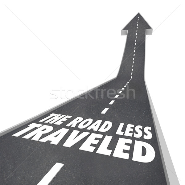 The Road Less Traveled Go Your Own Way  Stock photo © iqoncept
