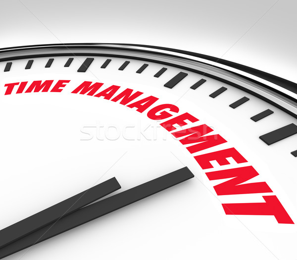 Time Management Words Clock Timer Managing Hours Stock photo © iqoncept