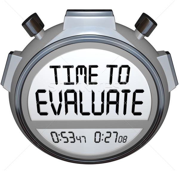 Time to Evaluate Words Stopwatch Timer Evaluation Stock photo © iqoncept