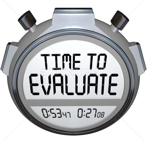 Tiempo palabras cronógrafo temporizador evaluación ilustrar Foto stock © iqoncept