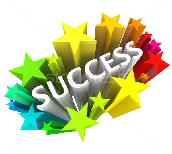 Success - Word Surrounded by Colorful Stars Stock photo © iqoncept