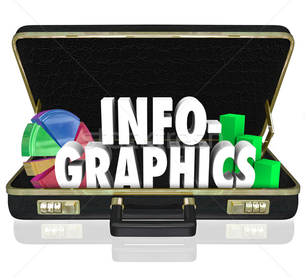 Infographics Briefcase Sales Presentation Important Data Informa Stock photo © iqoncept