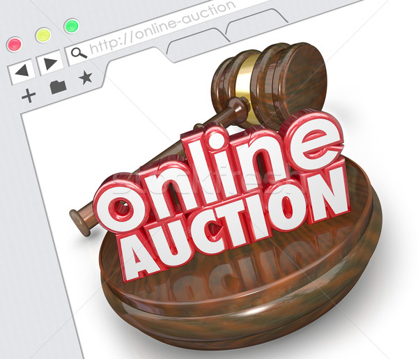 Stock photo: Online Auction Website Internet Online Marketplace Bidding Selli