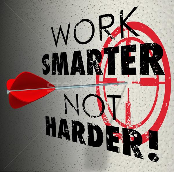 Trabajo no flecha objetivo objetivo eficaz Foto stock © iqoncept