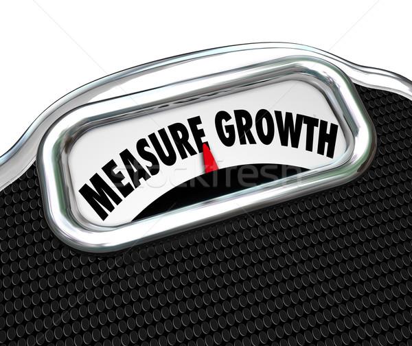 測定 成長 単語 規模 ストックフォト © iqoncept