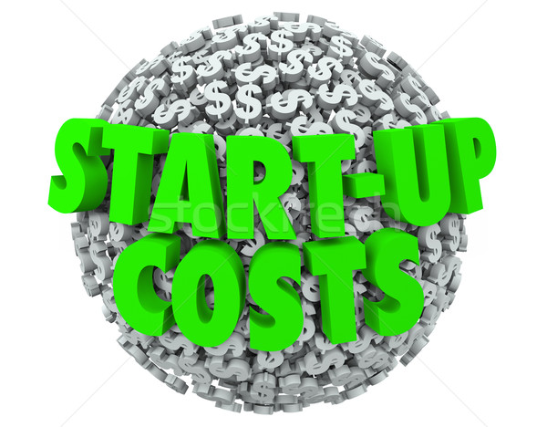 Start-Up Costs New Business Launch Dollar Signs Company Opening Stock photo © iqoncept