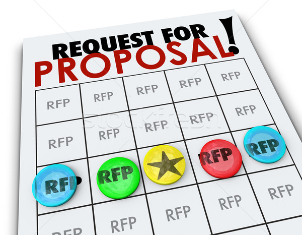 RFP Request for Proposal Bingo Card Business Competition  Stock photo © iqoncept