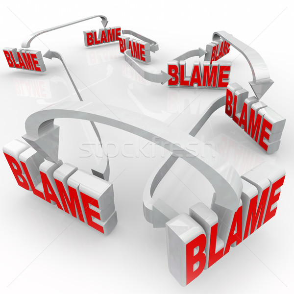 Passing Blame Arrow Words Accusing Others Denying Responsibility Stock photo © iqoncept