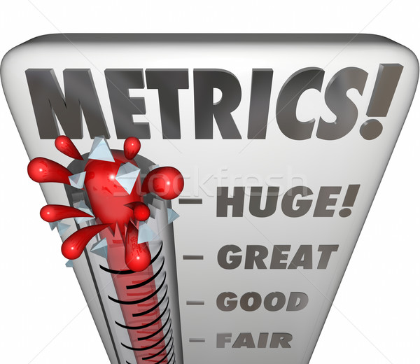 Metrics Thermometer Gauge Measuring Performance Results Stock photo © iqoncept