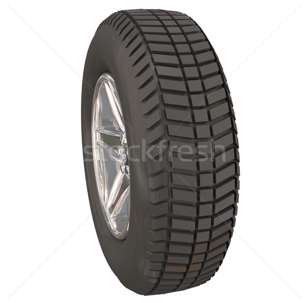 Wheel Tire Side View Car Vehicle Automotive Driving Stock photo © iqoncept