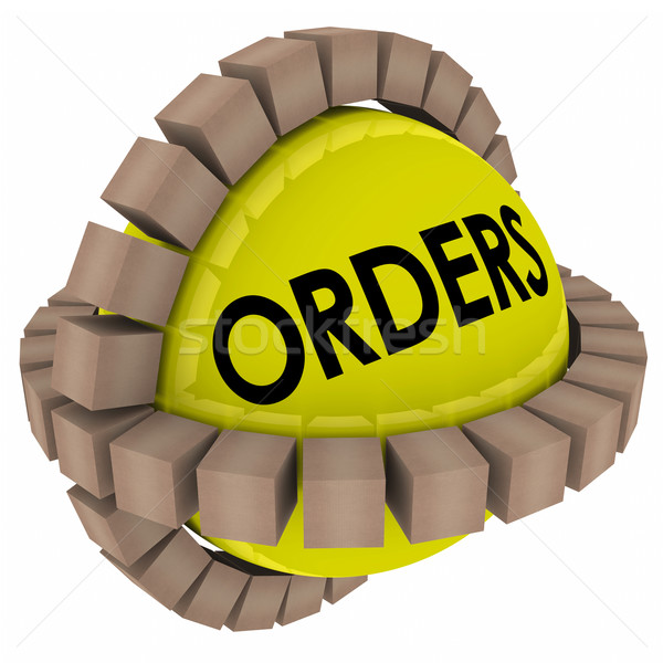 Orders Product Packages Delivery Fulfillment Warehouse Stock photo © iqoncept