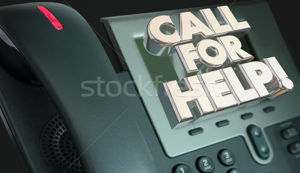 Call for Help Customer Service Assistance Phone 3d Illustration Stock photo © iqoncept