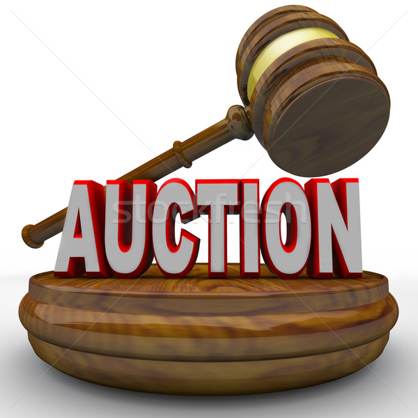 Auction - Word and Gavel for Final Bid Stock photo © iqoncept