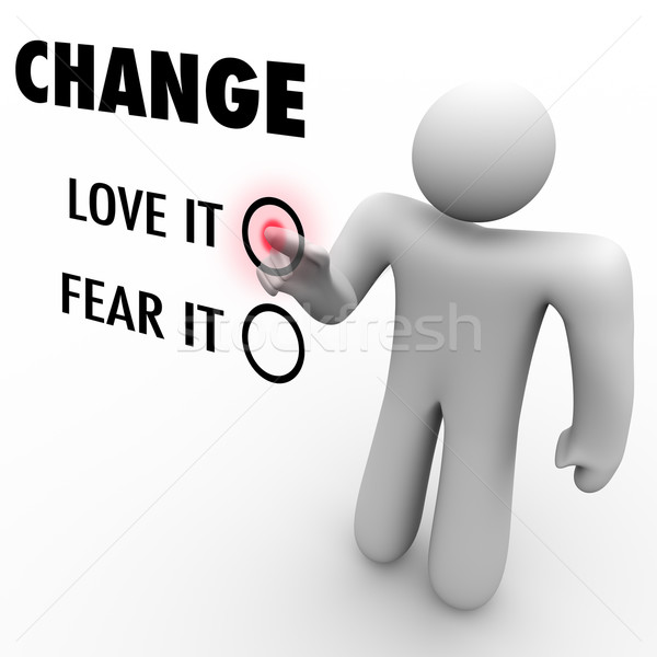 Love or Fear Change - Do You Embrace Different Things Stock photo © iqoncept