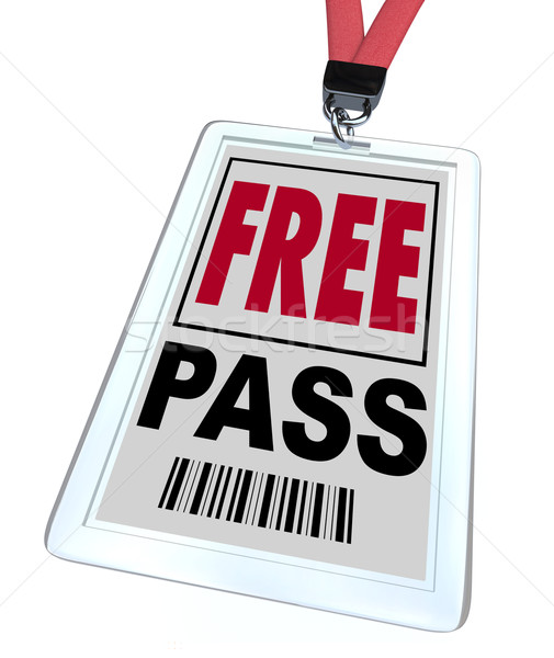Free Pass - Lanyard and Badge Stock photo © iqoncept