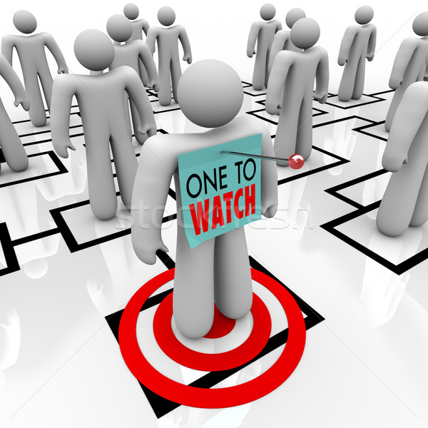 One to Watch Marked Person in Organizational Chart Stock photo © iqoncept
