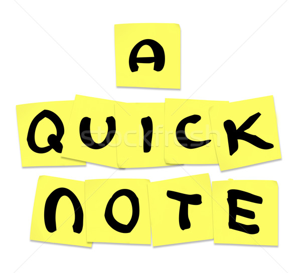 Rapide note mots sticky notes conseil pointe Photo stock © iqoncept