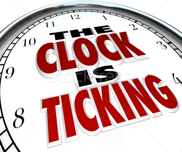 Clock is Ticking Words Deadline Approaching Stock photo © iqoncept