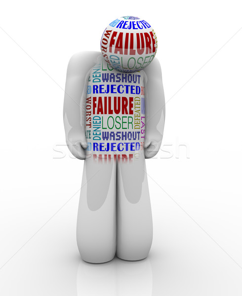 Failure - Sad Person Loser Denied and Unsuccessful Stock photo © iqoncept