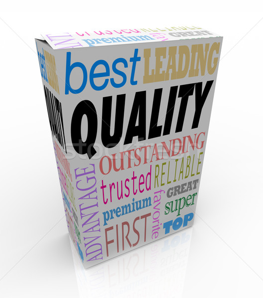 Stock photo: Quality Word on Product Box Top Best Choice