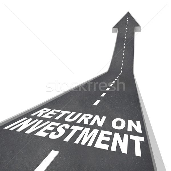 Voltar investimento estrada para cima crescimento Foto stock © iqoncept