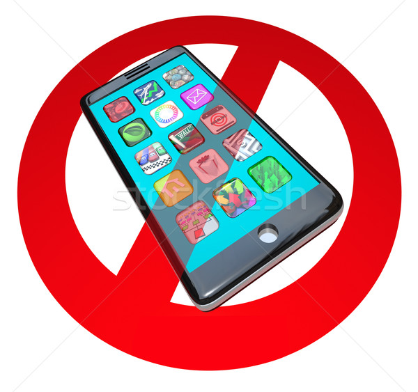 No Smart Phones Do Not Call Talk on Cell Phone Telephone Stock photo © iqoncept
