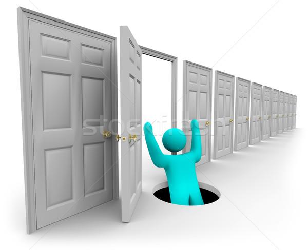 Choosing the Wrong Door Stock photo © iqoncept