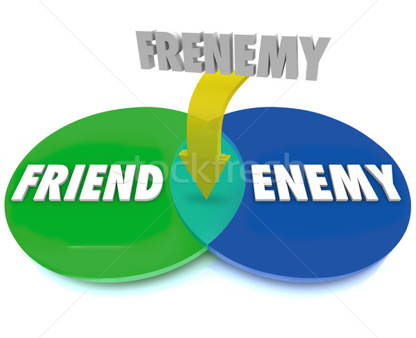 Frenemy Venn Digram Friend Becomes Enemy Stock photo © iqoncept