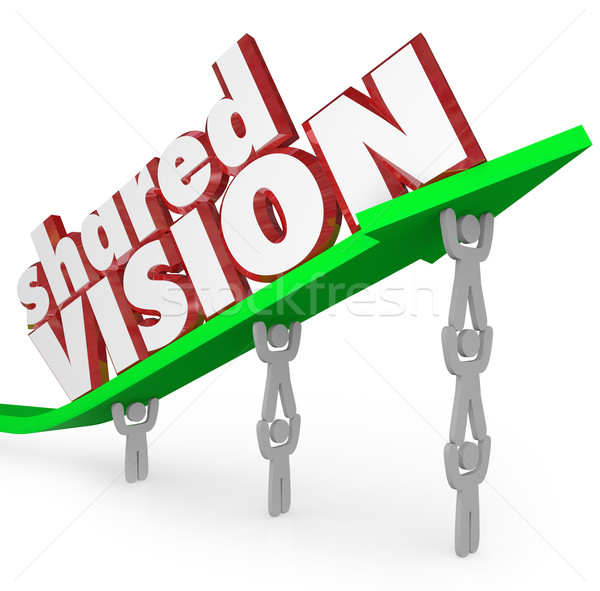 Shared Vision Common Goal Workers Cooperate Collaboration Stock photo © iqoncept