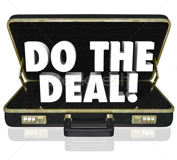 Stock photo: Do the Deal Briefcase Words Close Sale