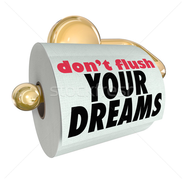 Don't Flush Your Dreams Toilet Paper Roll Stock photo © iqoncept