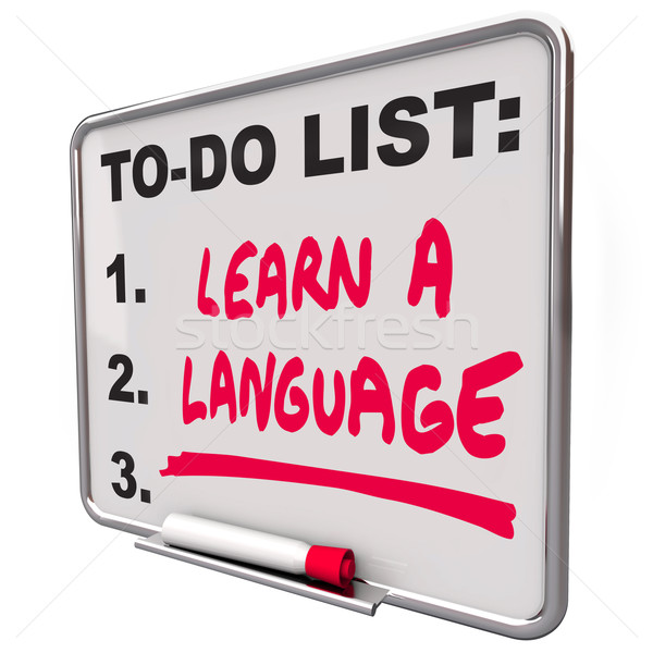 Learn a Language To Do List Foreign Dialect Education Skill Stock photo © iqoncept