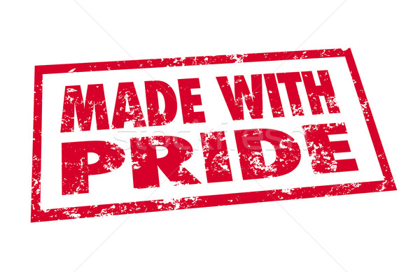 Made With Pride Red Stamp Hand Manufactured Product Stock photo © iqoncept