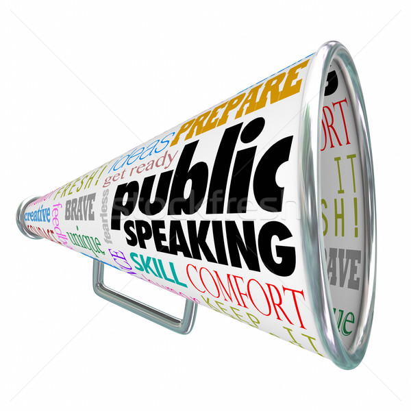 Public Speaking Bullhorn Megaphone Communication Ideas Advice Stock photo © iqoncept