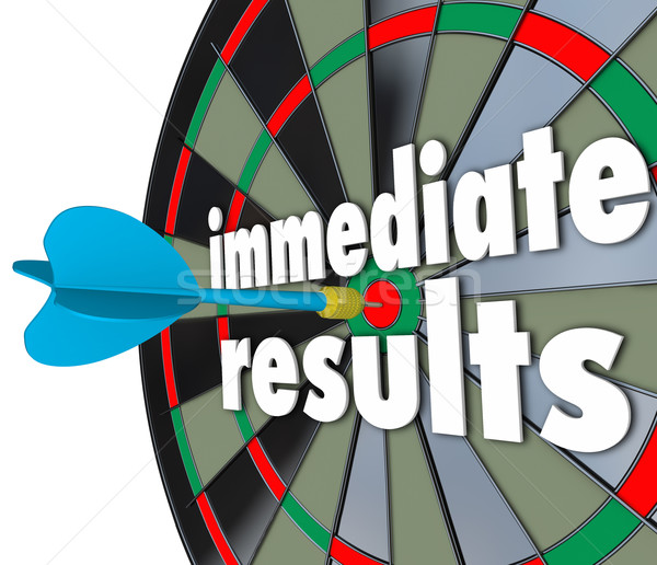 Immediate Results Dart Board Meeting Goal Outcome Now Stock photo © iqoncept