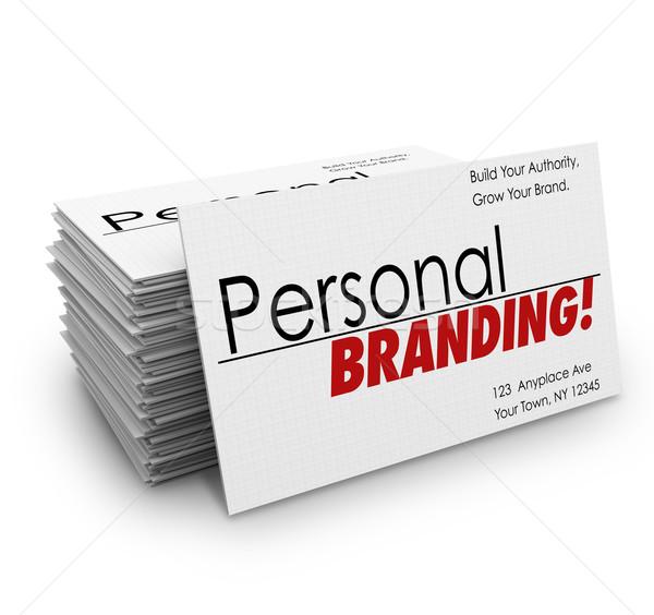 Osobowych branding reklamować usług firmy Zdjęcia stock © iqoncept