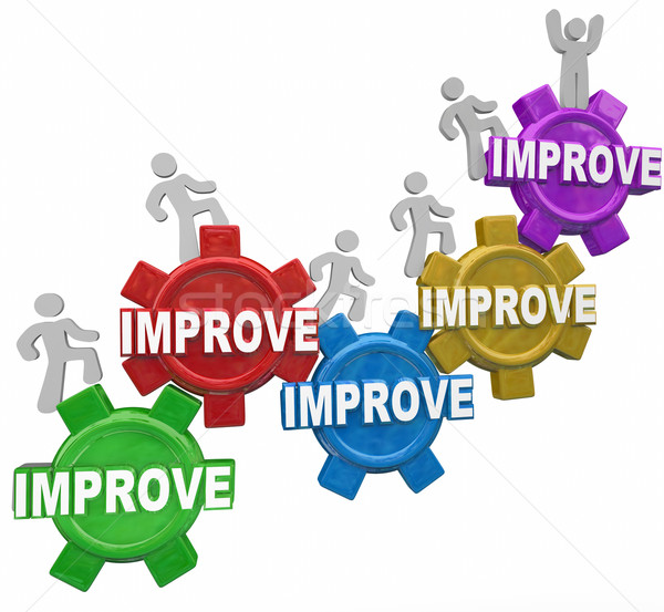 Improved Word Gears People Rising Increasing Results Better Perf Stock photo © iqoncept