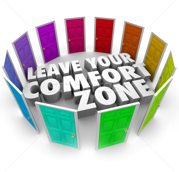 Leave Your Comfort Zone Doors New Opportunities Stock photo © iqoncept
