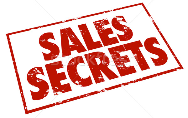 Sales Secrets Red Grunge Style Stamp Sell More Products Stock photo © iqoncept